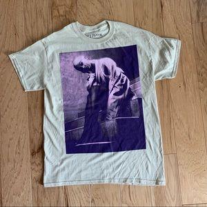 Ariana Grande stairs tan and purple tour t shirt